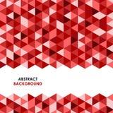 Abstrakt röd triangelbakgrund stock illustrationer