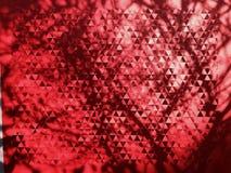 Abstrakt röd triangelgeometritapet Royaltyfria Bilder