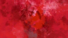 Abstrakt röd vattenfärgbakgrund Ljusa mång- kulöra fläckar stock illustrationer
