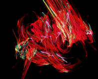 abstrakt röda former stock illustrationer
