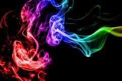 Abstrakt rök på svart bakgrund Royaltyfri Fotografi