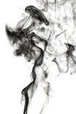 Abstrakt rök på svart bakgrund Royaltyfria Foton