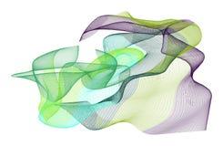 Abstrakt rökig linje konstillustrationbakgrund Garnering yttersida, mjukt & generativt vektor illustrationer