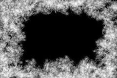 Abstrakt rökram och utrymme, svart bakgrund Fotografering för Bildbyråer