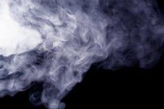 Abstrakt rökvattenpipa på en svart bakgrund Royaltyfri Bild