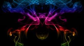 abstrakt rökwaves Arkivbild