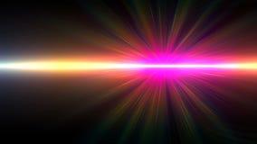Abstrakt rörelse av signalljuset för solbristningsbelysning arkivfilmer