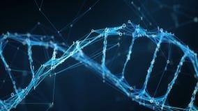 Abstrakt rörelsebakgrund - ögla för molekyl 4k för Digital binär PlexusDNA arkivfilmer