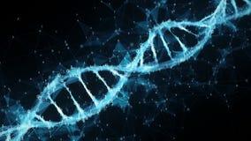 Abstrakt rörelsebakgrund - ögla för molekyl 4k för DNA för Digital binär polygonPlexus royaltyfri illustrationer