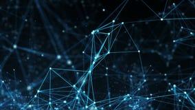 Abstrakt rörelsebakgrund - ögla för nätverk för Digitala data stock video
