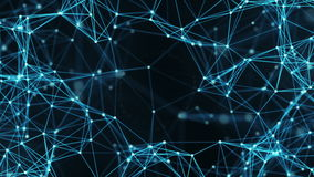 Abstrakt rörelsebakgrund - nätverk för Digital Plexusdata Alpha Matte Loop arkivfilmer