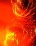 Abstrakt rött ljusbakgrund Royaltyfri Bild