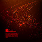 Abstrakt rött ljus. Arkivfoto