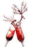 abstrakt rött vin Royaltyfria Bilder