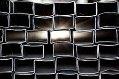 abstrakt rør staplat stål Fotografering för Bildbyråer