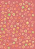 Abstrakt r?d blommamodell royaltyfri illustrationer