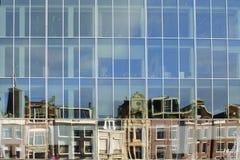 Abstrakt rad av hus Arkivfoto