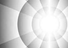 Abstrakt radie av cirkelbakgrund stock illustrationer