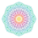 Abstrakt radiellt indiskt symbol för vektor Arkivbilder