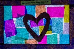 Abstrakt ram med färgrika fyrkanter Royaltyfria Bilder