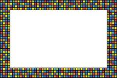Abstrakt rama z barwionymi kwadratami Obrazy Stock