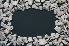 Abstrakt rama Z Białym drewnem Zdjęcie Stock