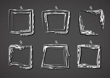 abstrakt ramset Hand drog fyrkantramar vektor illustrationer