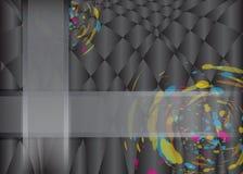 Abstrakt ramy szczotkarski kolorowy Plus na czarnym Wektorowym tle Obraz Royalty Free
