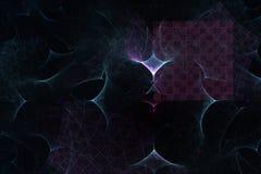 Abstrakt raster på en svart bakgrund Arkivfoton