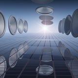abstrakt rasterkorridorhögtalare Royaltyfria Bilder