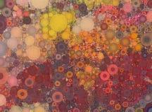 Abstrakt röd prickig bakgrund för guling- och apelsinmosaik Fotografering för Bildbyråer