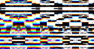 Abstrakt realistiskt skärmtekniskt fel som flimrar, parallell tappningTVsignal med dålig störning, statisk oväsenbakgrund stock video