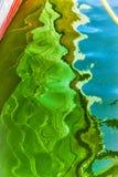 Abstrakt reflexion av ett fartyg Royaltyfri Foto
