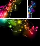 abstrakt regnbåge för lampor för affärskort royaltyfri illustrationer