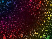 Abstrakt regnbågefärg pricker bakgrund vektor illustrationer