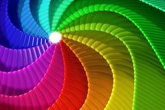 abstrakt regnbågespiral Arkivfoton