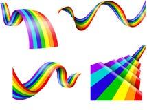 Abstrakt regnbågesamling Arkivfoton