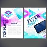 Abstrakt reklamblad, broschyrdesignmallar Arkivfoton