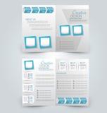 Abstrakt reklambladdesignbakgrund Bi-veck broschyrmall vektor illustrationer