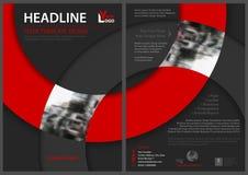 Abstrakt reklambladmall med cirkelformer Royaltyfria Bilder