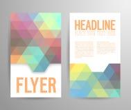Abstrakt reklambladmall med stället för text Fotografering för Bildbyråer