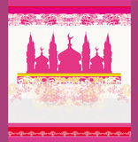 Abstrakt religiös bakgrund - Ramadan Kareem design Royaltyfria Bilder
