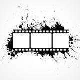 Abstrakt remsabakgrund för film 3d med svart färgpulvereffekt Royaltyfri Foto
