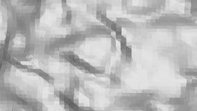 Abstrakt ren svartvit låg poly vinkande yttersida 3D som futuristisk miljö Grå geometrisk vibrering arkivfilmer