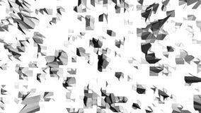 Abstrakt ren svartvit låg poly vinkande yttersida 3D som modebakgrund Grå geometrisk vibrerande miljö eller arkivfilmer
