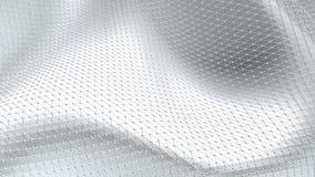 Abstrakt ren svartvit låg poly vinkande yttersida 3D som utrymmebakgrunden Grå geometrisk vibrerande miljö eller arkivfilmer