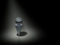 Abstrakt reprezentuje samotność Obraz Royalty Free