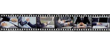Abstrakt retro filmremsa Arkivbilder