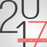Abstrakt Retro kort för hälsning för lyckligt nytt år för stil eller bakgrund, idérik designmall - 2017 Arkivbild