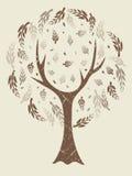 abstrakt retro tree Royaltyfri Foto
